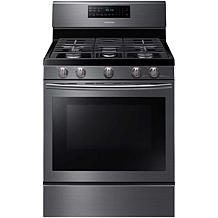 Samsung 5.8CF Gas Range with Convection/Black Stainless