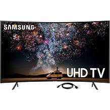 Samsung RU7300 4K UHD Curved Smart TV with 6' HDMI Cable