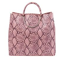 Sassy Jones Pamela Snake-Print Triple Compartment Tote