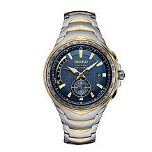 Seiko Men's Coutura 2-Tone Stainless Steel Blue Dial Chronograph Watch