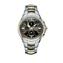 Seiko Men's Gray Dial Perpetual Chronograph Bracelet Watch