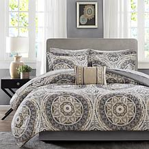 Serenity Full 9pc Complete Bed and Sheet Set - Taupe