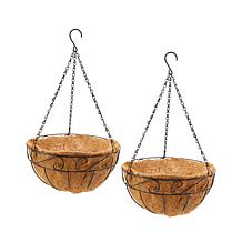 Set of 2 Hanging Planter Basket with Coco Liner