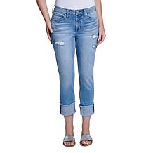 Seven7 High Rise Cuffed Slim Straight Jean - Special