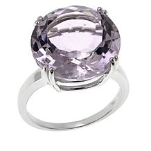 Sevilla Silver™ 11ct Round Pink Amethyst Solitaire Ring
