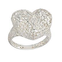 Sevilla Silver™ Filigree Openwork Heart Ring