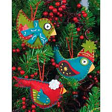 Simple Ornaments Felt Applique Kit - Set Of 3