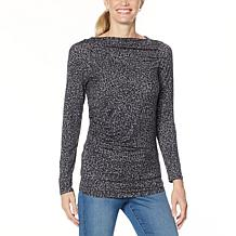 Skinnygirl Boatneck Side Ruched Top