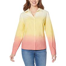 Skinnygirl Carlee Ombré Button-Down Top