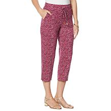 Skinnygirl Koney French Terry Wide-Leg Cropped Lounge Pant