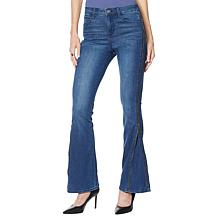 Skinnygirl Power Moves High-Rise Side Zip Flare Jean
