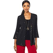Slinky® Brand 2-piece Sparkle Jacket and Basic Tank