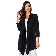 Slinky® Brand Drape-Front French Terry Knit Duster