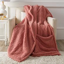 Soft & Cozy Oversized Cloud Plush Footed Throw