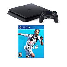 """Sony PlayStation 4 Slim 1TB Console with """"FIFA 19"""" Game & Accessories"""