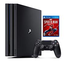 Sony PS4 Pro 1TB Console with Spider-Man Game & Wireless Controller