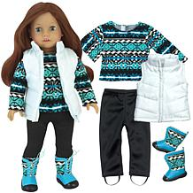 """Sophia's by Teamson Kids Print Knit Sweater and Leggings for 18"""" Dolls"""