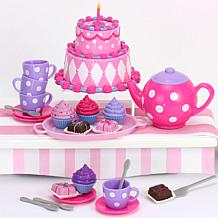 """Sophia's by Teamson Kids Small Pink Tea Party Set for 18"""" Dolls"""