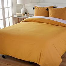 South Street Loft 100% Cotton 3-piece Tasseled Duvet Cover Set
