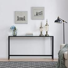 Southern Enterprises Pinsley Narrow Long Console Table - Black