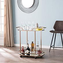 Southern Enterprises Vikram Bar Cart - Champagne