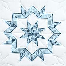 Stamped White Quilt Blocks 18-inch x 18-inch