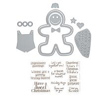 Stamps of Life Gingerbread Card Stamp and Die Set for A2 Cards
