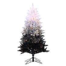 Sterling Vintage Black Ombre Lighted Christmas Tree