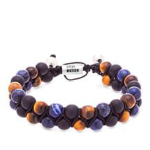 Steve Madden Men's Multicolor Bead Slider Bracelet