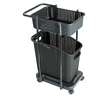 Storesmith Storage Cart with Removable Laundry Basket