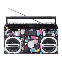 Studebaker 80's Retro Street Bluetooth Boombox w/FM Radio & CD Player
