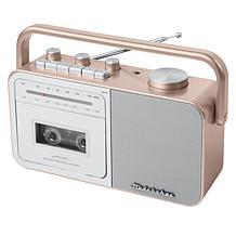 Studebaker SB2130 Portable AM/FM Radio & Cassette Player/Recorder