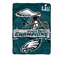 "Super Bowl LII Champions 60"" x 80"" Raschel Throw"