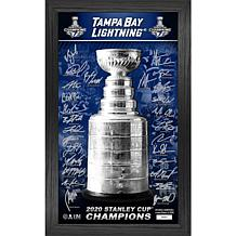 Tampa Bay Lightning 2020 Stanley Cup Champions Signature Trophy Photo