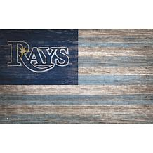 Tampa Bay Rays Distressed Flag 11x19