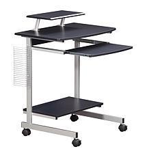 Techni Mobili Compact Computer Cart With Storage - Espresso