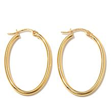 "Technibond® Oval Tube 11/16"" Diameter Hoop Earrings"