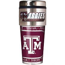 Texas AM Aggies Travel Tumbler w/ Metallic Graphics and Team Logo