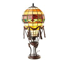 Tiffany-Style Hot Air Balloon Dragonfly Accent Lamp