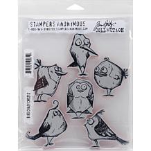 """Tim Holtz Cling Stamps 7"""" x 8.5"""" - Bird Crazy"""