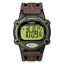 Timex Men's Expedition Digital Chronograph Leather/Nylon Strap Watch