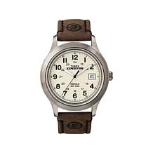Timex Men's Expedition Stainless Steel Brown Leather Strap Watch