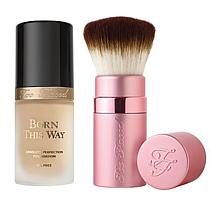 Too Faced Born This Way Foundation & Kabuki Brush