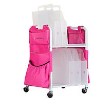 Totally-Tiffany Paper Cart with Apron and Paper Handlers
