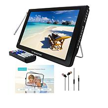 """Trexonic 12"""" Ultra Lightweight Portable LCD TV with Antenna & Sleeve"""