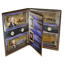 United States Presidential Collection 24K Gold Aurums, Stamps and C...