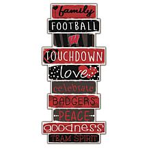 "University of Wisconsin Celebrations Stack 24"" Sign"