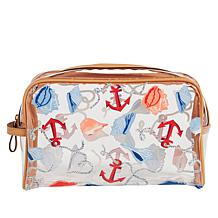 Vera Bradley Clear Beach-Design Cosmetic Bag