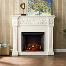White Electric Fireplaces Hsn