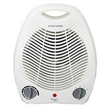 Vie Air 1500W Portable 2 Settings White Office Fan Heater with Adju...